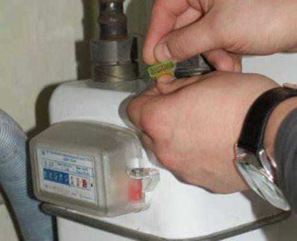 Joint sur le compteur de gaz