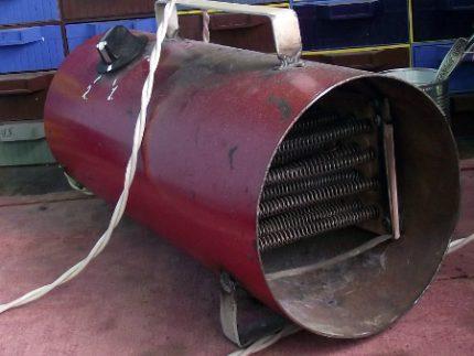 Heat gun in the garage
