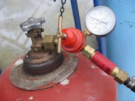Reducer for propane-butane mixture