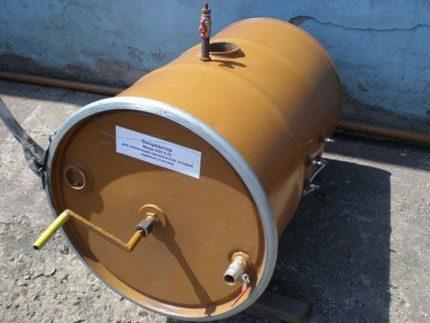 Home-made barrel bioreactor