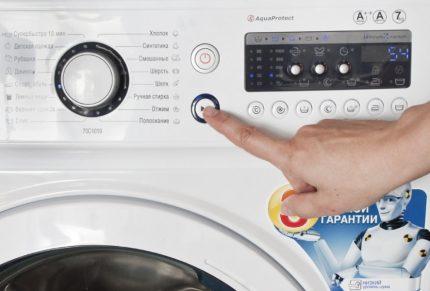 Installation d'un programme de lavage à venir