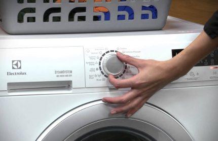 Modes de fonctionnement de la machine à laver