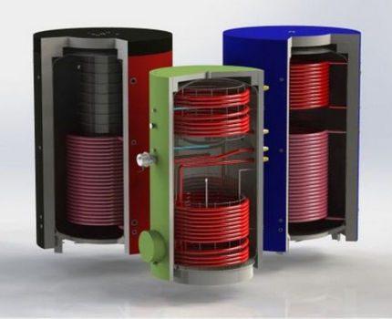 Différents types d'accumulateurs de chaleur