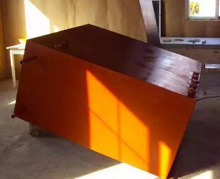Réservoir rectangulaire en acier