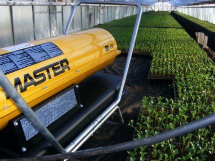 Using a heat gun to heat greenhouses