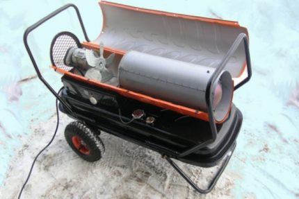 Homemade heat gun for the garage