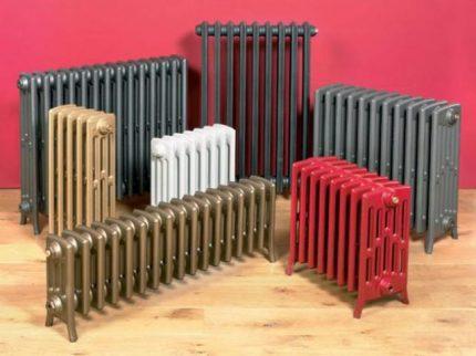 Dažādu veidu radiatori