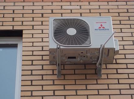 Ventfasad outdoor unit installation