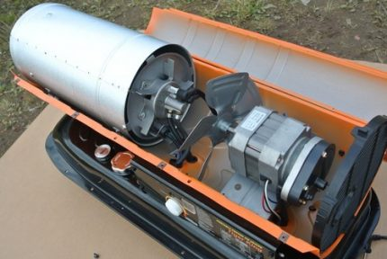 Diesel gun device