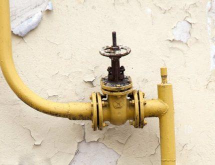 Robinet de gaz externe