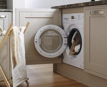 Loading things into the washing machine