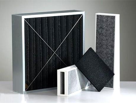 Charcoal filters in exhaust hoods
