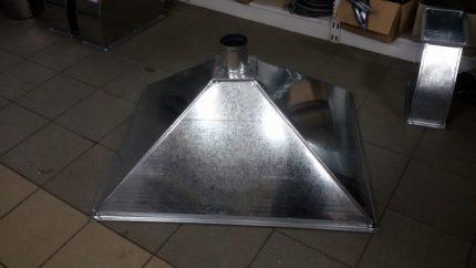 Steel exhaust hood