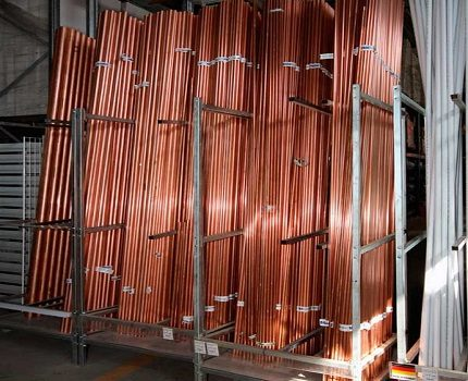 Copper tubes for cooling system