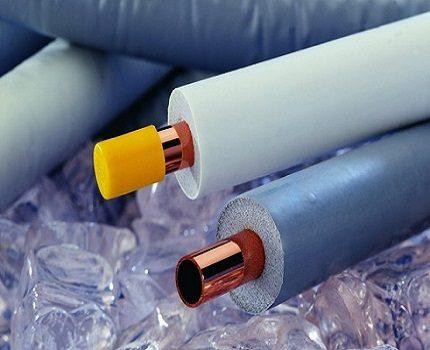 Copper pipe insulation