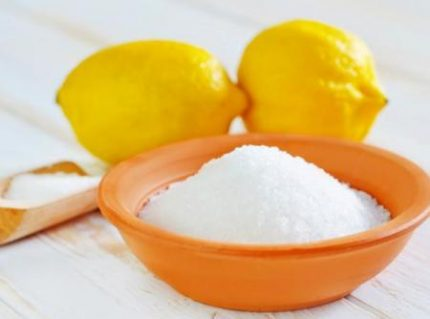 Citric acid for filter cleaning