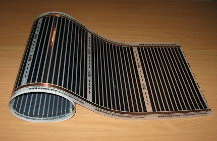 Plancher électrique infrarouge en film