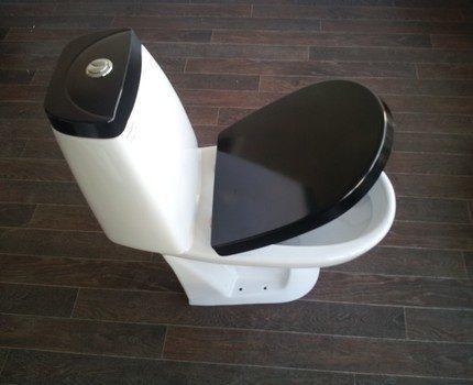 Black toilet lid