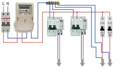 Elektroinstalācijas shēma difiltomatiem bez zemējuma