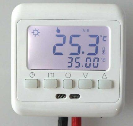 Affichage du capteur de chaleur