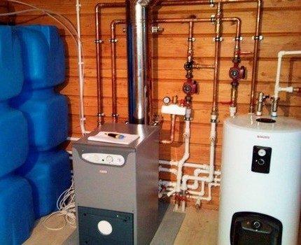Diesel heating boiler