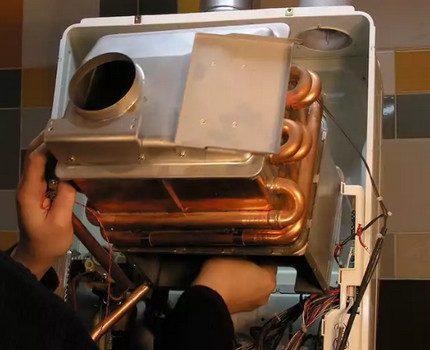 Installation of a double-circuit gas boiler