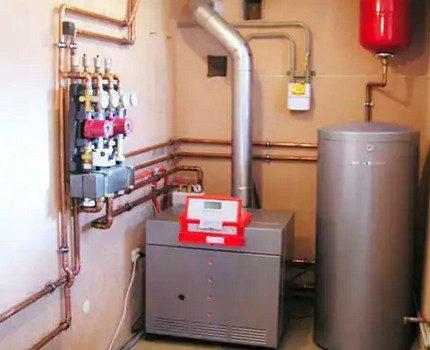 Double circuit gas boiler
