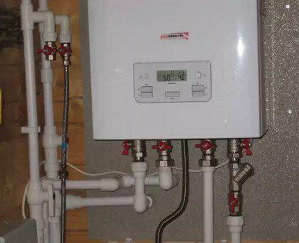 Wall-mounted double-circuit boiler