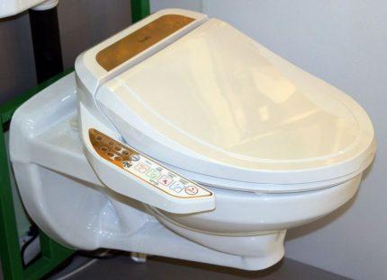 Electronic toilet lid