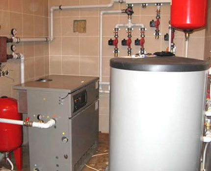 Gas pipeline in a residential building