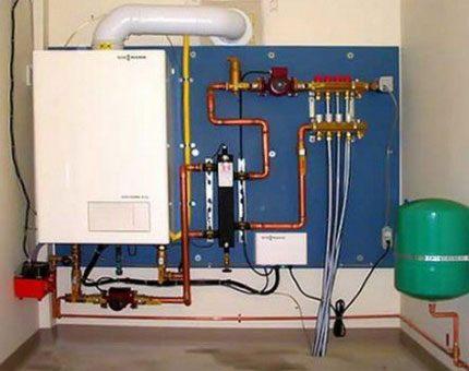 Installation de chaudière à gaz