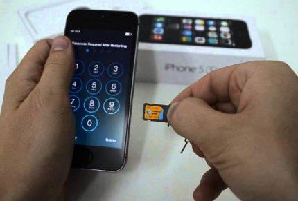 Carte SIM pour téléphone