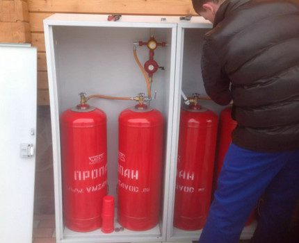 Installation de bouteilles de propane