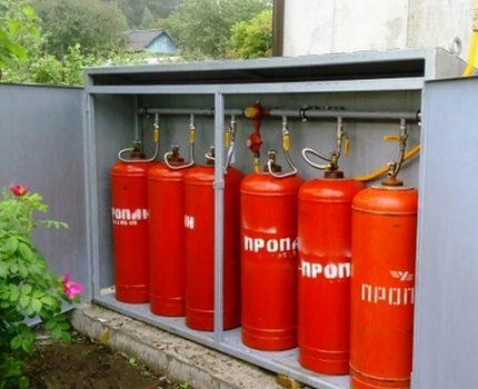 Bouteilles de propane pour le chauffage