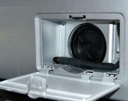 Washing machine drain filter