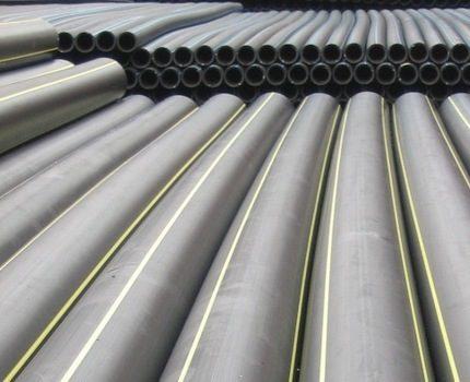 Plastic gas pipeline