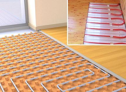 Water floor under the laminate
