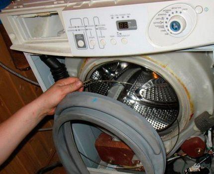 Disassembling the front washing machine