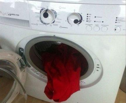 Laundry in the washing machine