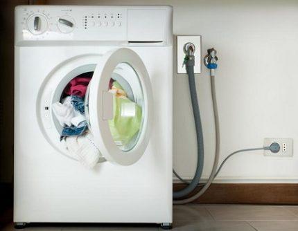 Washing machine connection