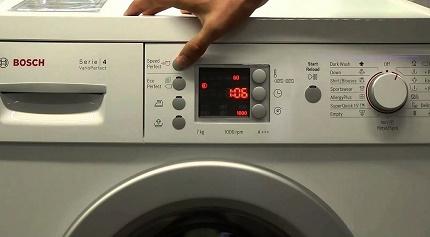 Reboot the washing machine programmer
