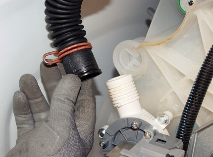 Causes of water leakage in the washer
