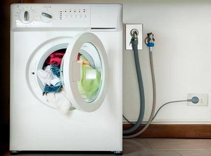 Turn off the washing machine before repair