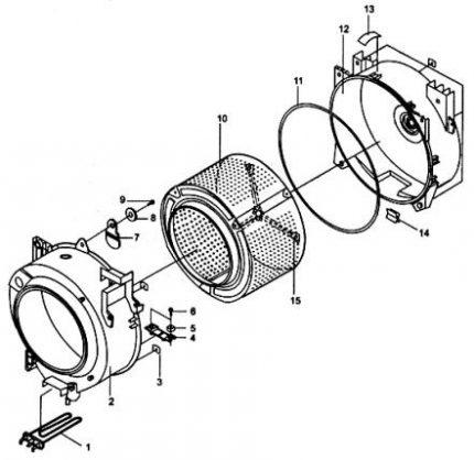 Scheme of parts washing machine
