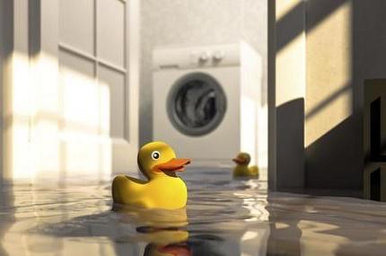 Washing machine emergency leak
