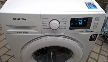 Samsung washing machine frontal type