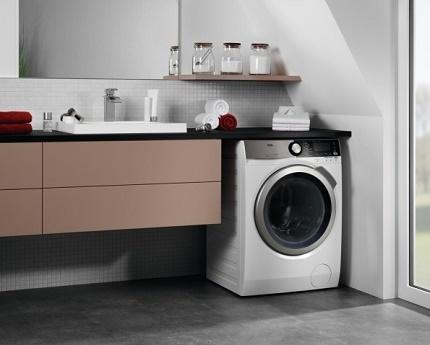 Front-loading washing units