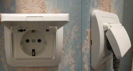 Socket in the bathroom