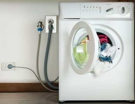 The washing machine is connected to communications