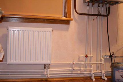 Polypropylene heating system